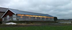 Økologiske fjøset til Tormod Kopperud, fasade 16 X 40 meter