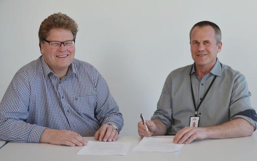 Hans Thorn Wittussen konserndirektør Råvare og Medlem i Nortura og Harald Volden fagsjef i TINE rådgiving.