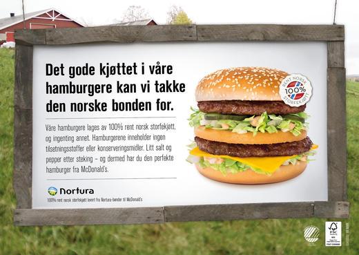 Fra 1. april vil disse brettunderlagene være synlig tilstede ved McDonalds sine restauranter.