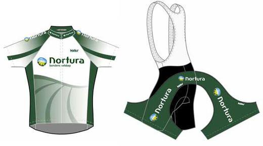 Slik ser Norturas sykkeldrakt ut og den kan bestilles via vår nettbutikk.