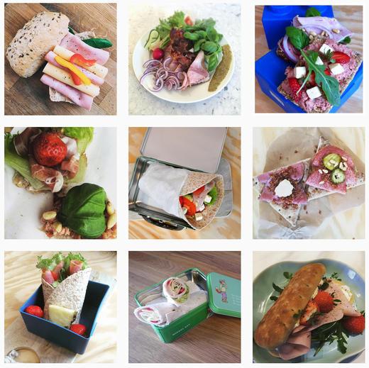 Mange har delt sitt beste matpakkebilde med oss på emneknaggen #gildepålegg