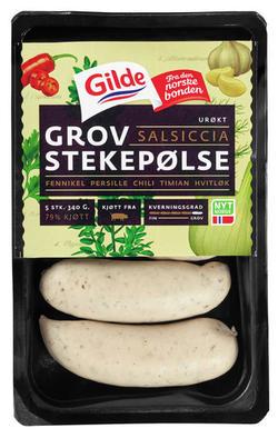 Gilde Grov Stekepølse Salsiccia