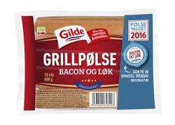 Gilde Grillpølse bacon og løk