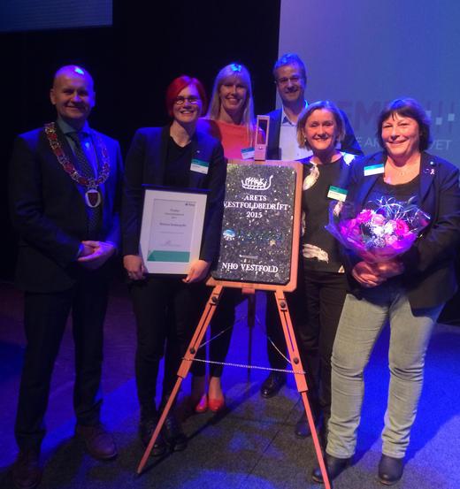 Nortura Tønsberg har fått prisen som Årets Vestfoldbedrift 2015. – Dette betyr mye for oss, sier fabrikkdirektør Therese Ryan.
