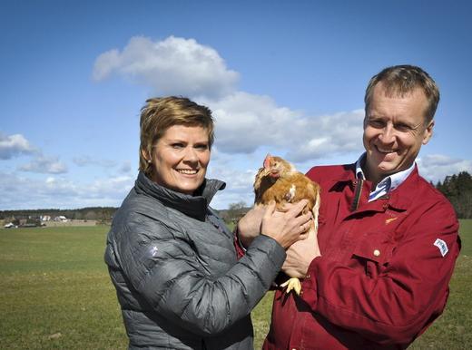Heidi og mannen Saxe Frøshaug, driver Frøshaug gård