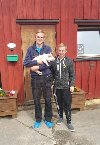 Vinnerne fra venstre Håkon Rud og Erik Solbjørg