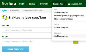 Slakeanalyse sau/lam - Min side