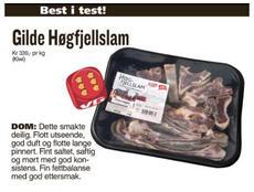 Gilde Høgfjellslam med terningkast 6 i VG