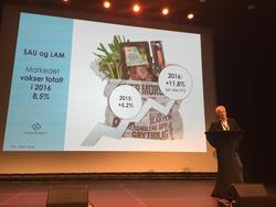 """Kategorisjef for ferskvare i Norgesgruppen, Svein Bekkelund vil være med på """"dugnaden"""" på å selge mer lam – og selge lam hele året. Det er vesentlig at forbrukerne kjøper lammekjøttet når det også blir tilgjengelig ut over de vanlige sesongene som påske, høst og jul."""