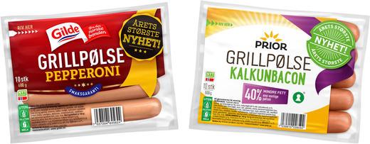 De klassiske grillpølsene fra Gilde og Prior kommer nå med nye smaker.