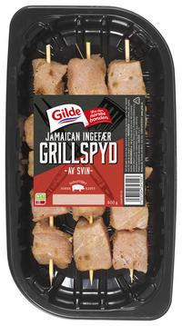 Gilde grillspyd svin med jamaican ingefær