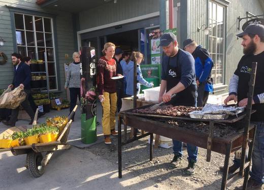 Grilling ved Kiwi Næroset