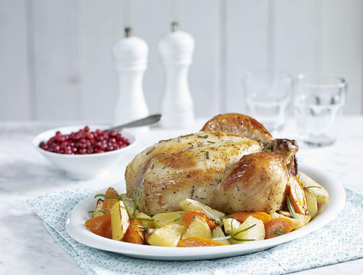 Hel kylling med rotgrønnsaker