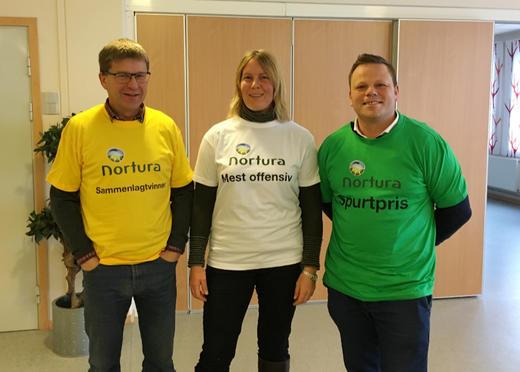 Fra venstre Ole Henrik Lauritzen, Hanne Guåker og Per Ander Buer. Foto: Theodor Bye, Nortura