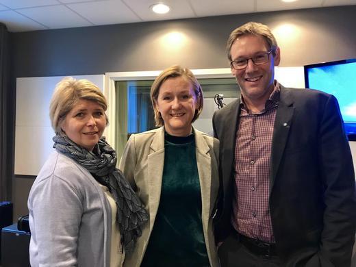 Nina Sundqvist, Ellen Flø Skagen og Arne Kristian Kolberg