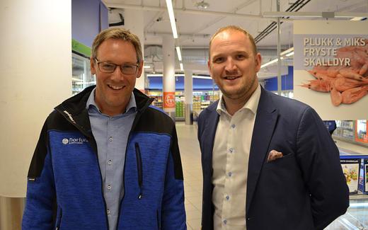 Konsernsjef Arne Kristian Kolberg og Mat- og landbruksminister Jon Georg Dale