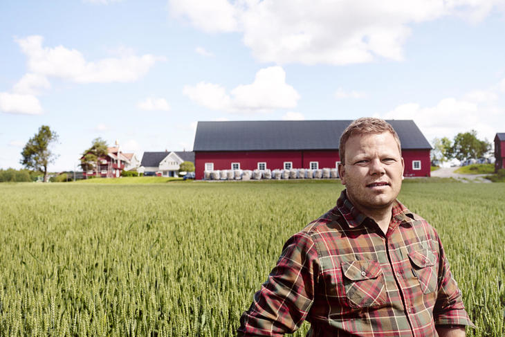 Kalkunbonde Per Anders Buer i Skjeberg