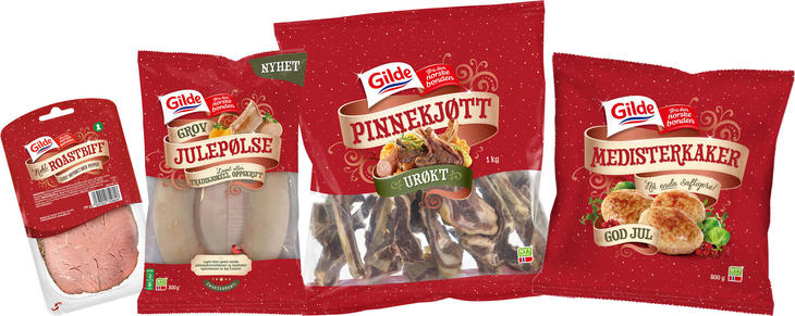 Ny design på Gilde juleprodukter
