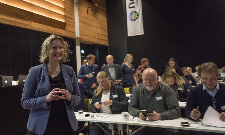 Styreleder i Nortura Trine Hasvang Vaag ved valget i 2018