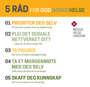 5 råd for god bondehelse