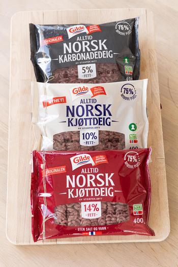 Kjøttdeig med ny emballasje