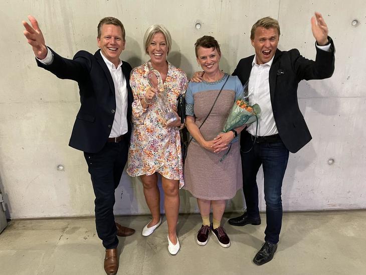 Nortura PROFF-gjengen fra venstre: Morten Jakobsen Fossmo (kjedesjef), Tonje Nedrud (salgskonsulent), Kari Langbraaten (senior kjedesjef) og Sondre Nygaard (kjedesalgssjef).